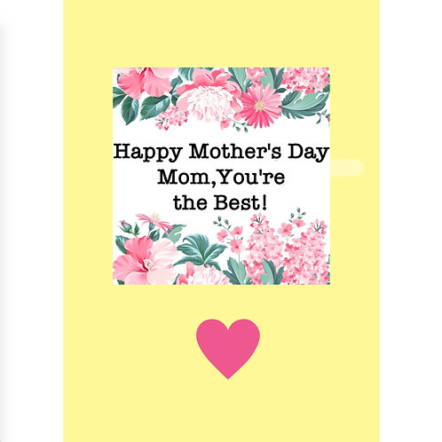 """Mother's Day Card - """"You're the Best"""""""
