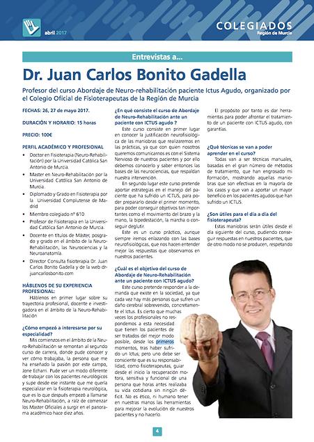 drjuancarlosbonito Colegio Fisioterapeutas Murcia
