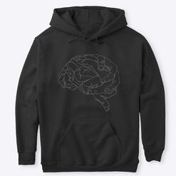 Sudadera Cerebro B&N
