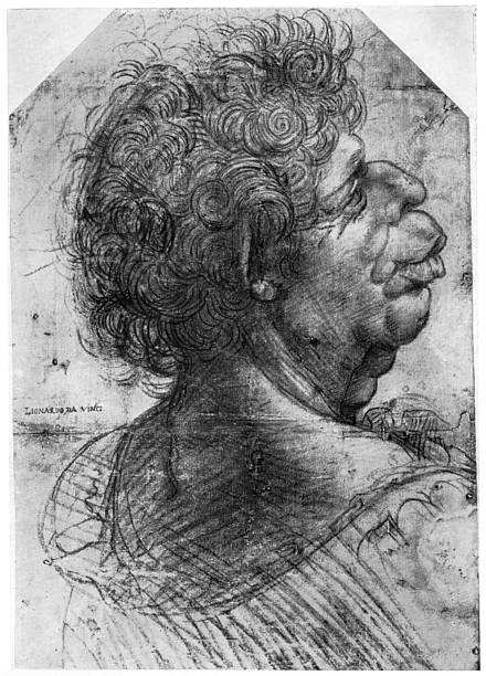 Drawing of Scarramuccia, da Vinci