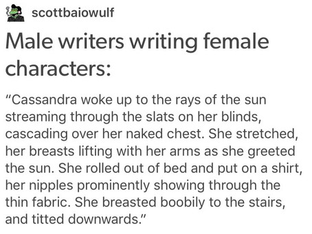 Spotted In The Wild: Men Writing Women