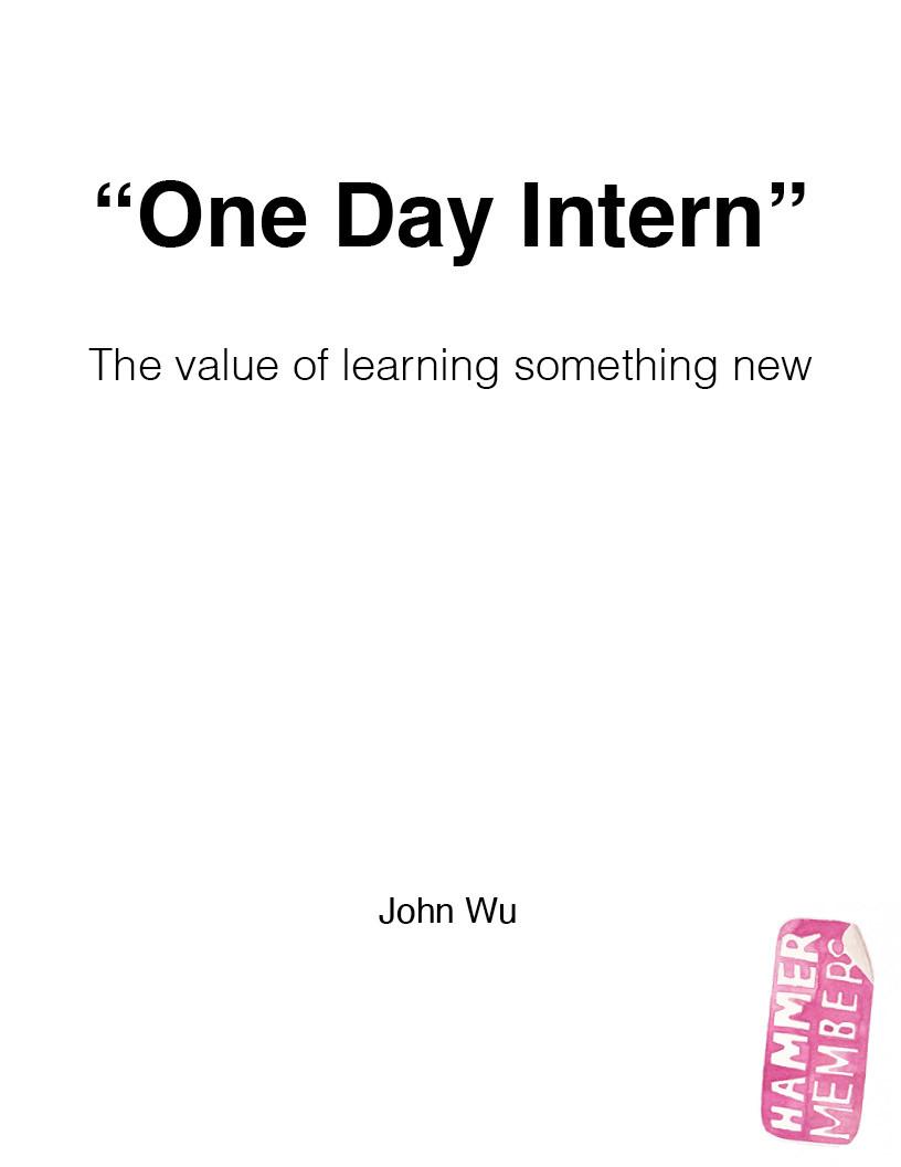 One Day Intern