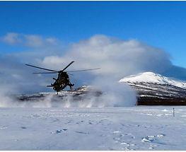 sea king mk4 norway arctic snow landing crew resource management dust cockpit junglie