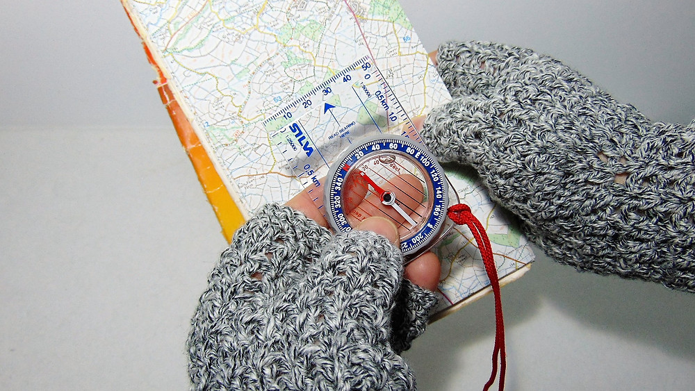 Using OS Maps and Compass with Hiking Mitts from Adventure Accessories