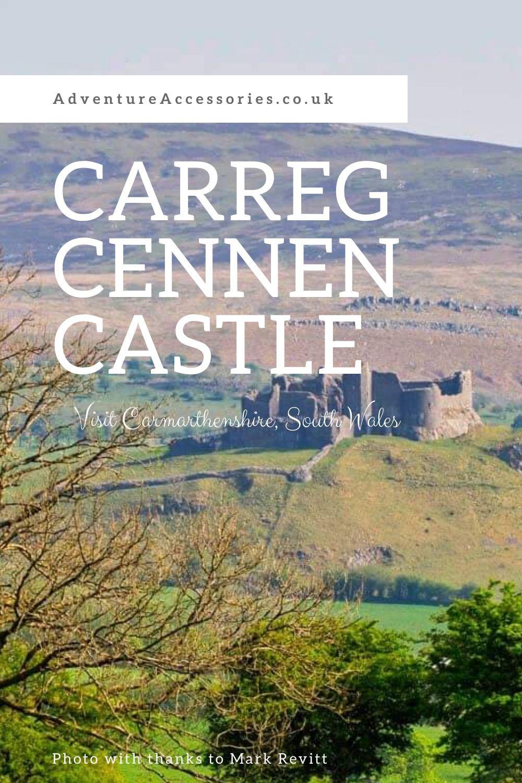 Carreg Cennen Castle, Carmarthenshire, Brecon Beacons National Park, South Wales. Adventure Accessories