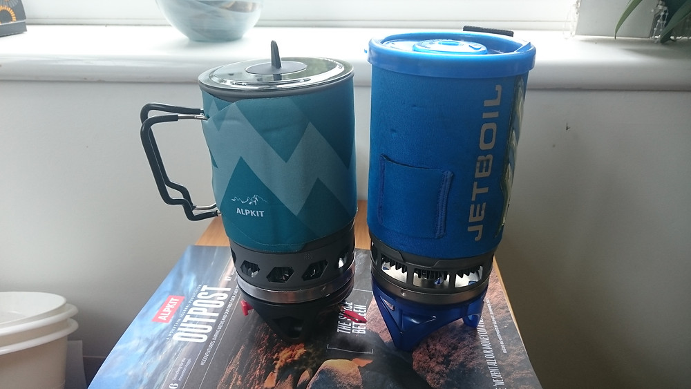 Jet Boil Stove and Alpkit Brukit. Adventure Accessories