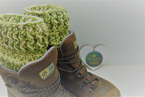 Boot Cuffs - Khaki Camo. Gifts for Outdoors, Adventure Accessories