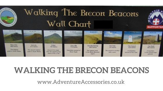 Walking The Brecon Beacons, 8 Welsh Fans, by Adventure Accessories