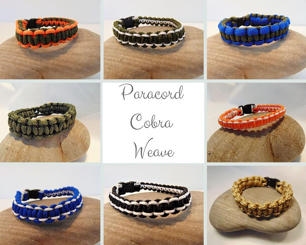 Paracord Bracelets, Cobra Weave, Adventure Accessories