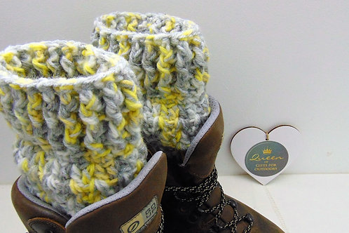 Boot Cuffs - Yellow Sparkler. Gifts for Outdoors, Adventure Accessories