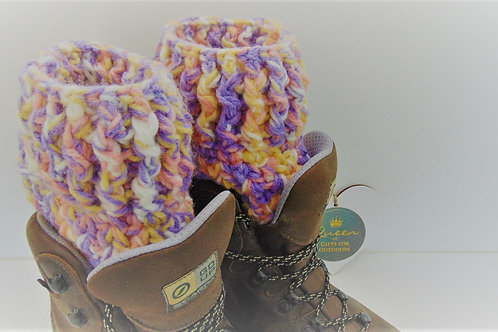 Boot Cuffs - Cotton Candy. Gifts for Outdoors, Advenutre Accessories