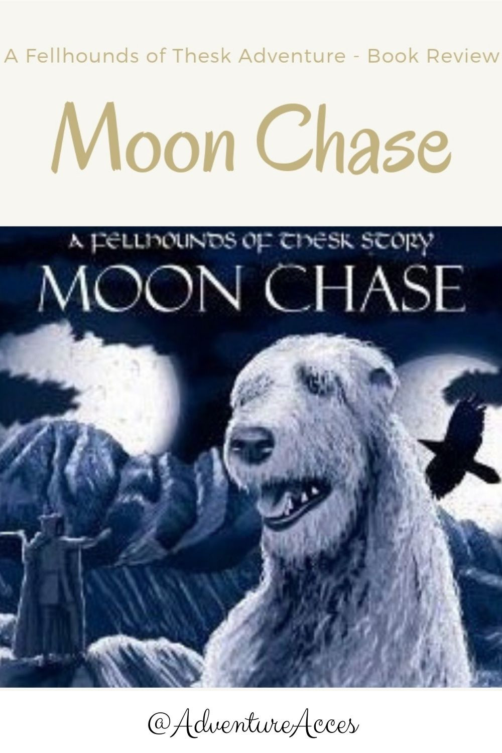 Moon Chase book review for Pinterest. Adventure Accessories