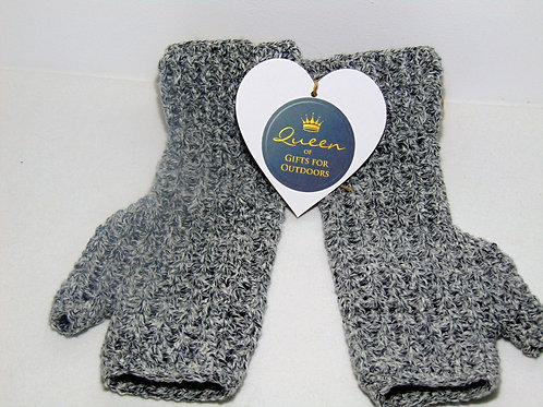 Hiking Mitts - Black Denim, Gifts for Outdoors, Adventure Accessories