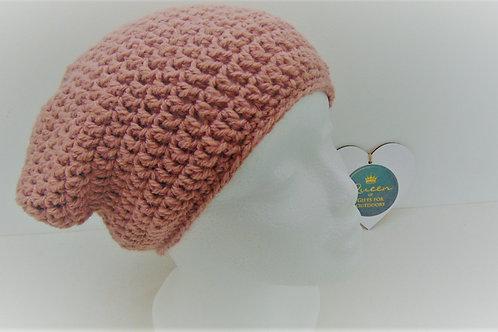 Brimless Slouchy Beanie - Dusty Pink