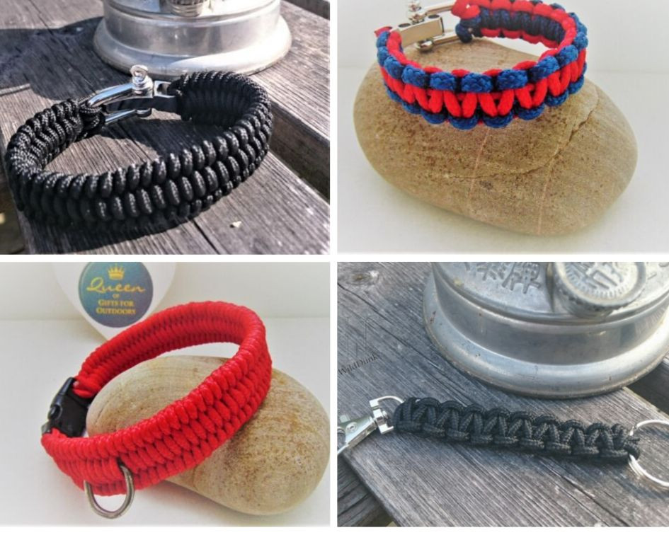 Paracord Bracelets and Key Chains, Adventure Accessories