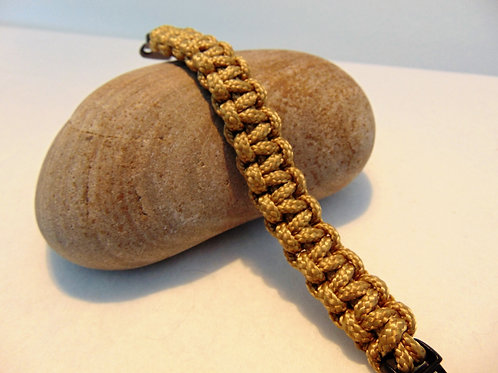 Paracord Bracelet, Gold, Gifts for outdoor enthusiasts, AdventureAccessories.co.uk