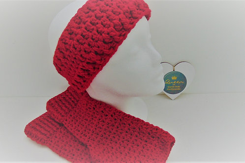 Red Outdoor Set - Mitts and Ear Warmers. Adventure Accessories