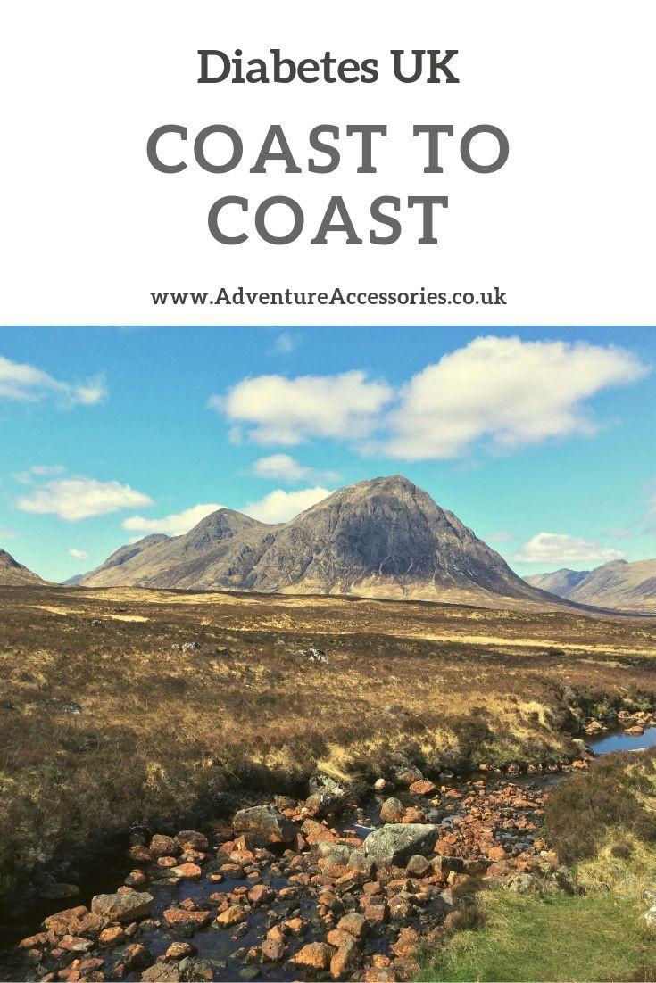 Pin Me. Diabetes UK coast to coast trek. Adventure Accessories