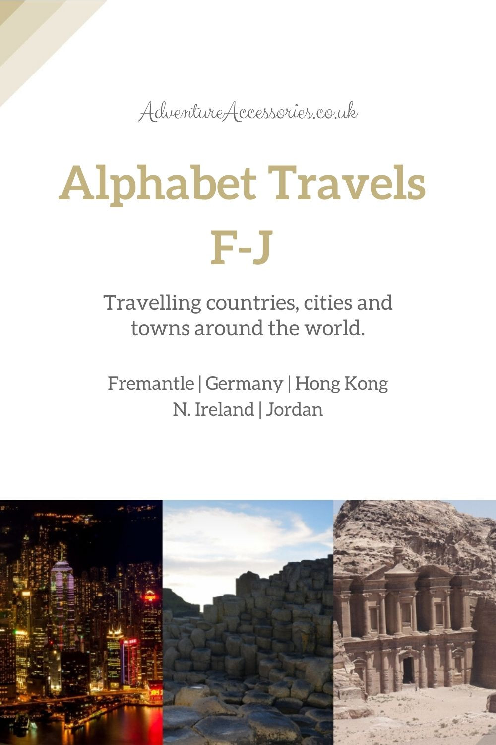 Pinterest - Alphabet Travel Series F to J. Adventure Accessories