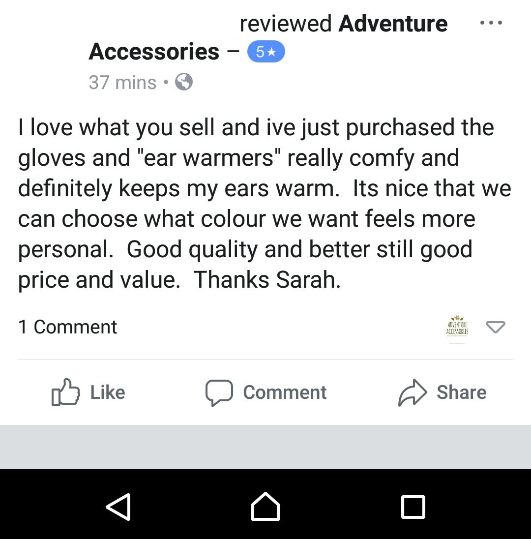 3. Facebook Review Hiking Mitts