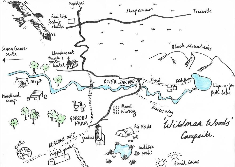 The Wildman Woods Campsite map, Adventure Accessories