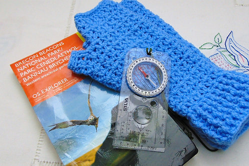 Hiking Mitts - Sky Blue. Gifts for Outdoors, Adventure Accessories