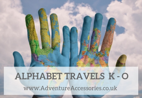 Alphabet Travels K to O