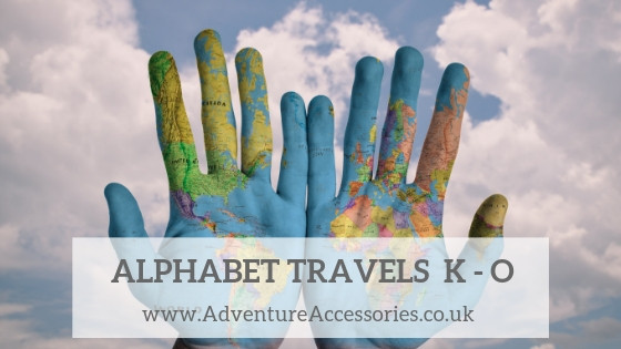 Alphabet Travel Series, Around the world letters K to O. Adventure Accessories