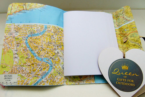 Traveller Notebook with Rome Map. Gifts for Outdoors from Adventure Accessories