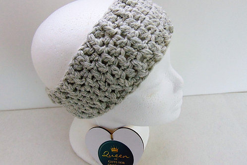 Gifts for Outdoors, Ear Warmer Headband, Silver, Adventure Accessories