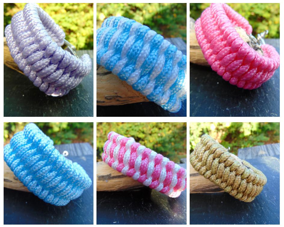 Paracord Bracelets, Trilobite Weave, Adventure Accessories