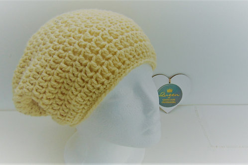 Brimless Slouchy Beanie - Cream. Gifts for Outdoors, Adventure Accessories