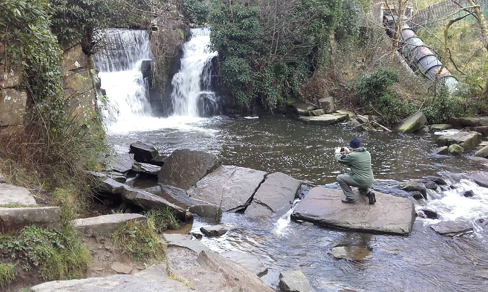 Waterfall at Penllergare Valley Woods. Adventure Accessories