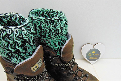 Boot Cuffs - Mint Ombre. Gifts for Outdoors. Adventure Accessories