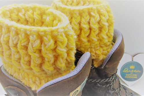Boot Cuffs, Sundance Yellow. Gifts for Outdoors, Adventure Accessories