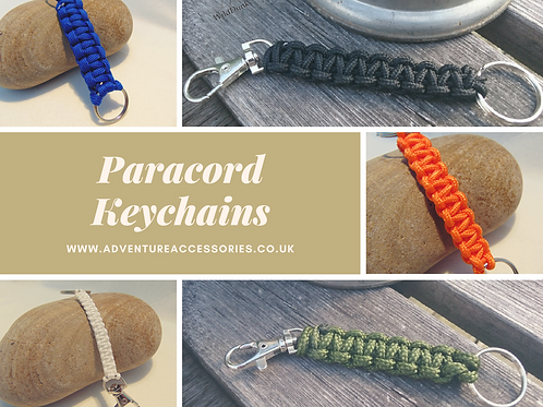 Paracord Keychains Photo Collage, Gifts for outdoor enthusiasts, AdventureAccessories.co.uk