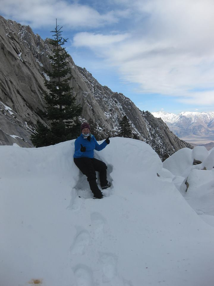 Snow camping, Mount Whitney. Adventure Accessories