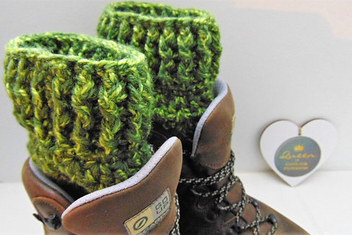 Boot Cuffs - Forest Green. Gifts for Outdoors, Adventure Accessories
