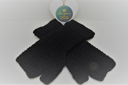 Hiking Mitts - Black. Gifts for Outdoors, Adventure Accessories