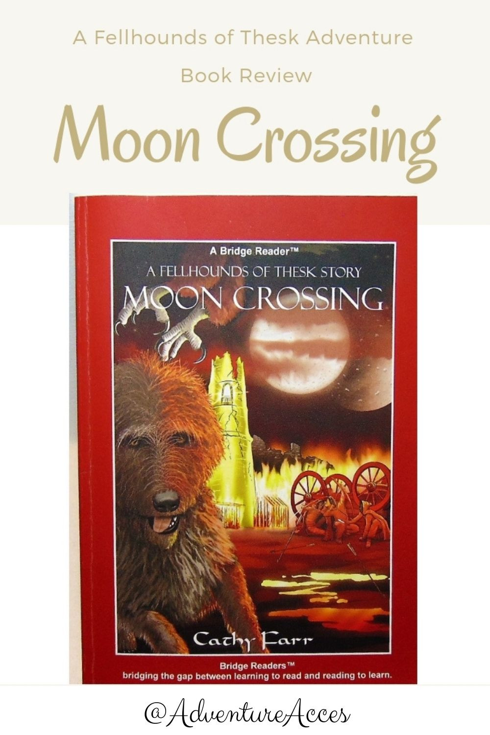 Moon Crossing book review for Pinterest by Adventure Accessories
