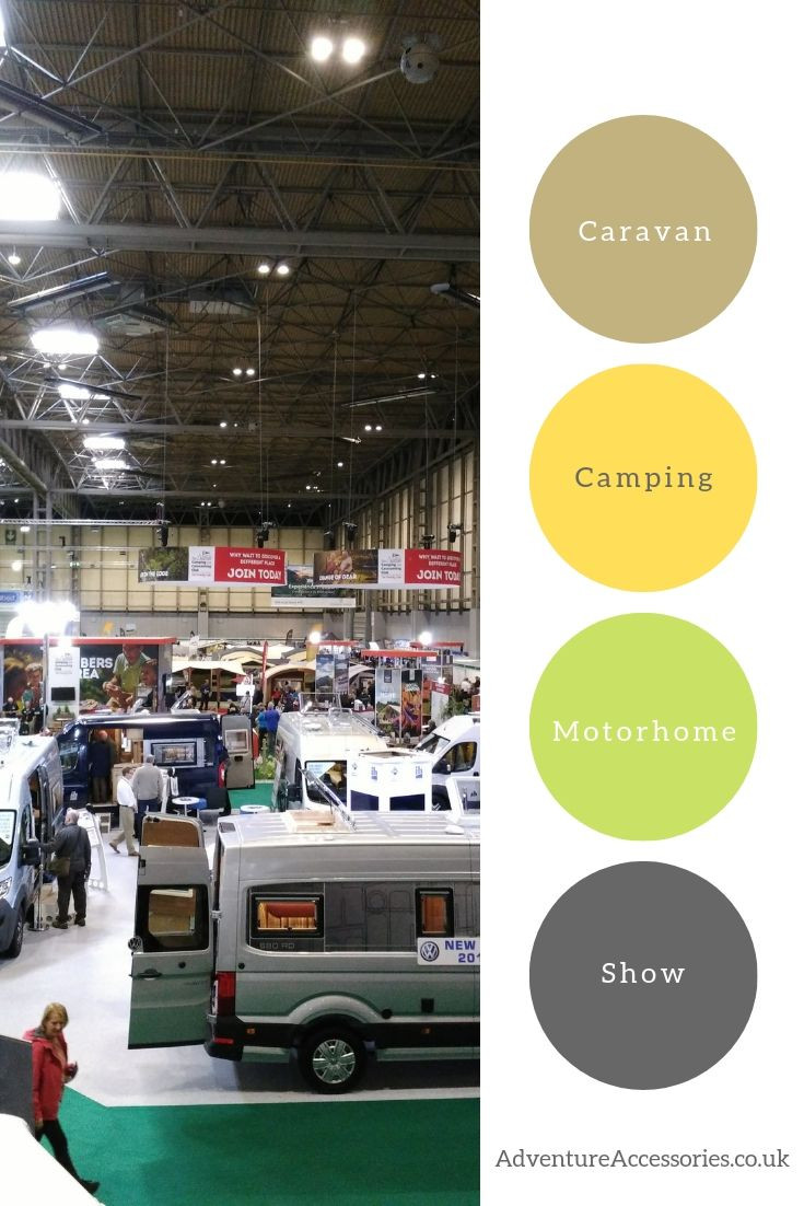 The Caravan, Camping & Motorhome Show, pinterest. Adventure Accessories