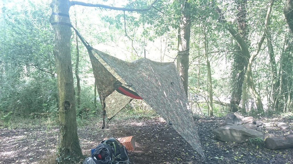 Tarp shelter, wild camping. Adventure Accessories