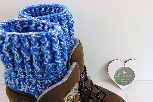 Boot Cuffs - Blue Denim. Gifts for Outdoors, Adventure Accessories