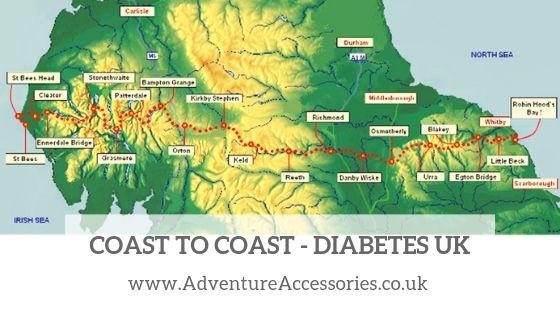 Coast to Coast for Diabetes UK. Adventure Accessories