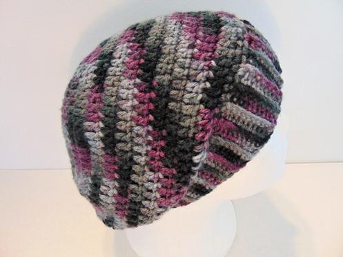 a817e3b8daa Slouchy Beanie Hat - Grey   Purple