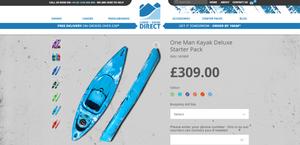 One Man Kayak Deluxe Starter Pack. Adventure Accessories