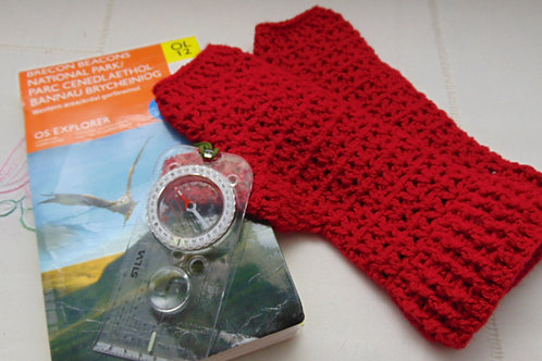 Hiking Mitts - Red. Gifts for Outdoors, Adventure Accessories