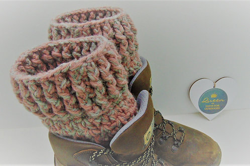 Boot Cuffs - Pink and Grey. Gifts for Outdoors by Adventure Accessories