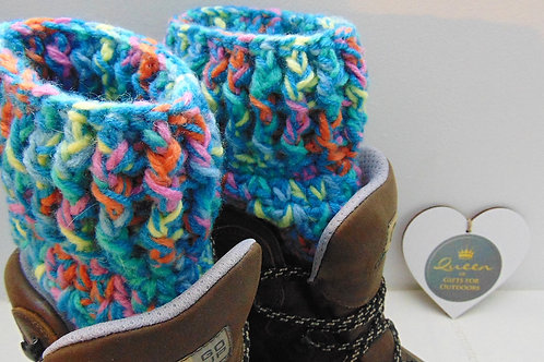 Boot Cuffs - Mardi Gras. Gifts for Outdoors, Adventure Accessories