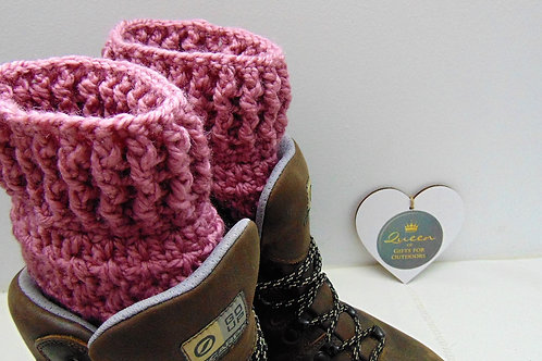 Boot Cuffs - Carnation. Gifts for Outdoors, Adventure Accessories